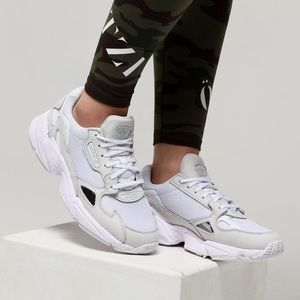 NEW Adidas Falcon white and grey sneakers